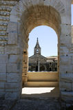 Detail of the amphithater at Arles on France Stock Image