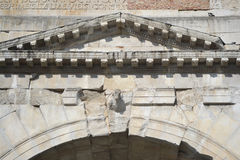 Detail of ancient arch in Rimini Stock Images