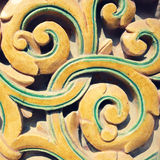 Detail of ancient ceramic pattern, China Royalty Free Stock Photography