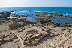 Detail of ancient city Caesarea from Israel Royalty Free Stock Photography