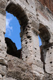 Detail of Ancient Colosseum in Rome Stock Photo