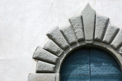 Detail of an ancient door in Lucca, Italy Stock Image