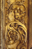 Detail of an ancient gilded frame Stock Photos