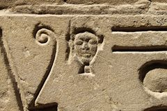Detail of ancient egyptian hieroglyphs in the Karnak Temple. Detail of ancient hieroglyphs in the Karnak Temple, Luxor, Egypt stock photos