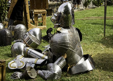 Detail of ancient medieval armor Stock Images