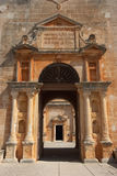 Detail of ancient monastery building. Ancient monastery building stock photography