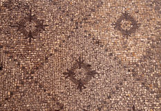 Detail of ancient mosaic roman floor. Pattern stock image