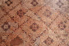 Detail of ancient mosaic roman floor. Pattern stock images