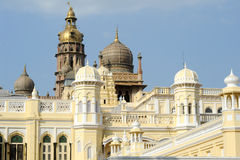 Detail of the ancient Mysore palace Royalty Free Stock Image