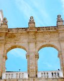 Detail of an ancient porch in Bari - Italy Stock Image