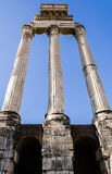Detail of Ancient Roman Forum pillars Royalty Free Stock Image