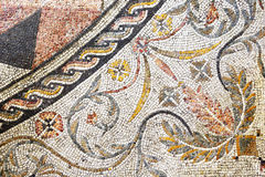 Detail of ancient roman mosaic in Rome Royalty Free Stock Image