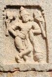 Detail at the ancient ruins of Vijayanagara Empire in Hampi Royalty Free Stock Photo