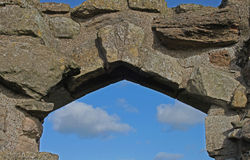 Detail of ancient stone walls and structure Royalty Free Stock Photography