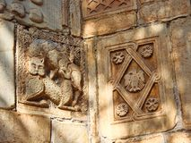 Detail of Byzantine Stonework, Little Metropolis Church, Athens, Greece. Detail of Ancient  stonework, The Little Metropolis, formally the Church of St royalty free stock photos