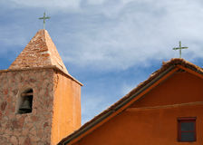 Detail of an andean church Stock Photography
