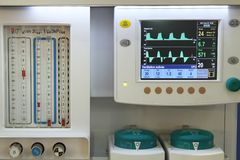Detail of anesthesia machine royalty free stock image