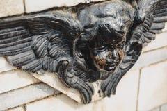 Detail of angel head in VIctoria Memorial Hall in Kolkata, India. Stock Photo