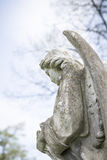 Detail of an angel sculpture Royalty Free Stock Photos