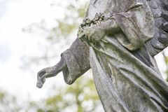 Detail of an angel sculpture Royalty Free Stock Photo