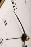 Detail of antique clock with Arabic numeral Royalty Free Stock Photo
