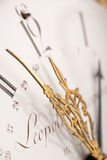 Detail of antique clock with Arabic numeral Royalty Free Stock Photography