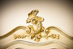 Detail of an antique italian furniture just restored. New life to old furniture - sepia toned stock photos