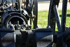 Atique oil well pump royalty free stock photography