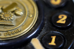 Detail of an antique phone Stock Photos