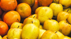 Detail of Apples and Oranges Stock Images