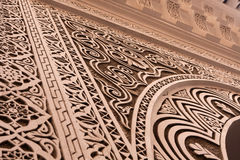 Detail of a Arab decoration in the El Badi Palace Royalty Free Stock Photos