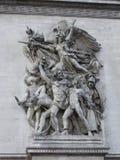 Detail of Arc de Triomphe de l'Etoile Stock Photography