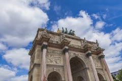 Arc de Triomphe du Carrousel in Paris. Detail of the Arc de Triomphe du Carrousel in Paris, France Royalty Free Stock Photos