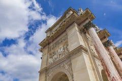 Arc de Triomphe du Carrousel in Paris. Detail of the Arc de Triomphe du Carrousel in Paris, France Royalty Free Stock Photo