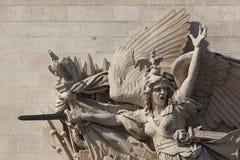 Detail of the Arc de Triomphe, Paris. Ile de  france, France Stock Photography