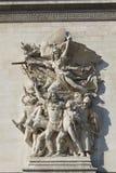 Detail of the Arc de Triomphe, Paris. Ile de  france, France Royalty Free Stock Image
