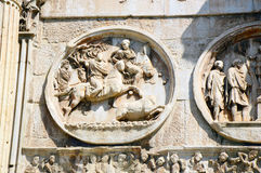 Detail of the Arch of Constantine, Rome, Italy Arco di Costantino.  Stock Images