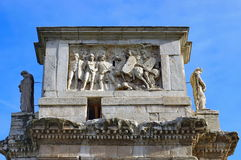 Detail of the Arch of Constantine - landmark attraction in Rome, Italy royalty free stock image