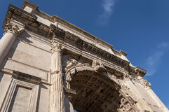Detail of The Arch of Titus. Royalty Free Stock Images