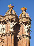 Detail of the arch of triumph, Barcelona. Stock Image