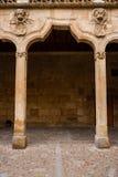 Detail archery of the Patios de Escuelas Cloister in Salamanca royalty free stock photos