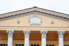Detail of architectural molding on the facade Royalty Free Stock Images