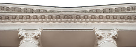 Detail of architectural molding on the facade Stock Images