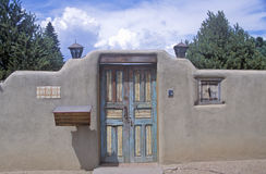 Detail of architecture of adobe in Santa Fe, NM Royalty Free Stock Images