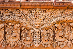 A detail of the architecture in an ancient temple in Angor area, Cambodia. royalty free stock photos