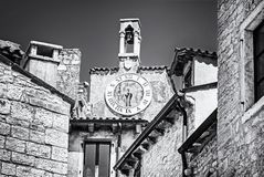 Detail of architecture in Bale old town, Croatia royalty free stock photography