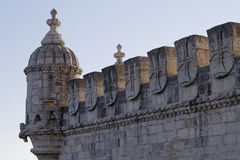Detail of architecture of Belem Tower Stock Photo