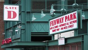 Fenway Park Stadium. Detail of the architecture of the Fenway Park Stadium in Boston, MA, USA stock photos