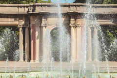 Detail of the architecture of the fountains of Dona Casilda park Royalty Free Stock Photo