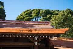 Detail architecture of Meiji-jingu shrine in Harajuku, Tokyo. Japan, Japanese traditional culture royalty free stock photos